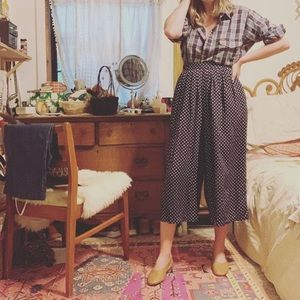 Vintage polka dot culottes